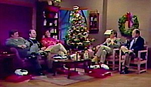 Cliff, Sean, Dana, Dan, and Stu on the 1989 Christmas show
